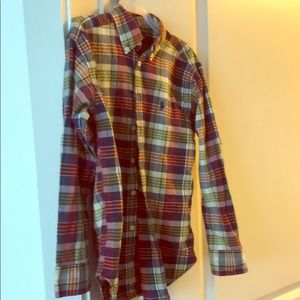 Boys Plaid Button Down Ralph Lauren Shirt - Sz Sm